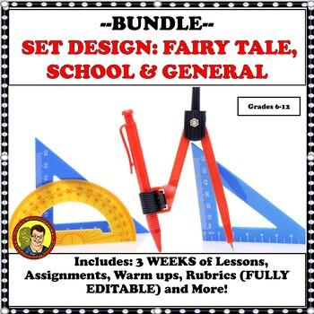 BUNDLE:  SET DESIGN--FAIRY TALE, SCHOOL & GENERAL