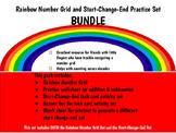 BUNDLE SET: Rainbow Number Grid Set & Start Change End Pra