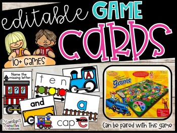 BUNDLE SET - Train Games - 12 Train Literacy & Math Centers
