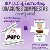 BUNDLE: SPANISH Compound Sentence Activities / ¡Oraciones compuestas en ESPAÑOL!