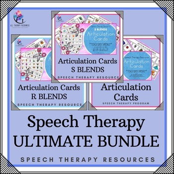 BUNDLE - SPEECH THERAPY - THERAPIST ULTIMATE BUNDLE (34 resources)