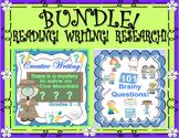 BUNDLE!   SPRING FUN!  READING   WRITING   RESEARCH