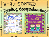 BUNDLE! SPRING READING COMPREHENSION PASSAGES and QUESTIONS!  40 stories