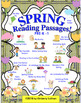 BUNDLE! SPRING READING COMPREHENSION PASSAGES and QUESTIONS! K - 1