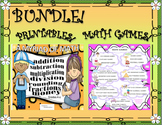BUNDLE! 20 MATH GAMES and 50 PRINTABLES! GRADES 4 - 6