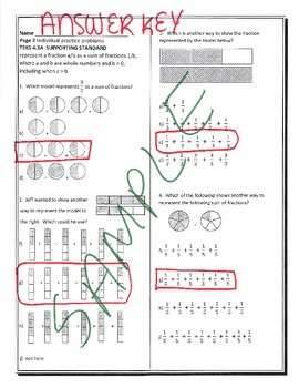 BUNDLE STAAR MATH 4TH GRADE MOST TEKS 4.3