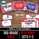 SETS 1-3 BUNDLE - STAR READY 3rd Grade Math Task Cards - STAAR / TEKS-aligned