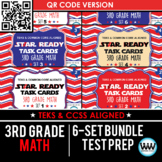 SETS 1-6 QR BUNDLE - STAR READY 3rd Grade Math Task Cards - STAAR / TEKS-aligned