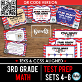 BUNDLE - STAR READY 3rd Grade Math Task Cards ~ SETS 4-6 ~ QR Code Version