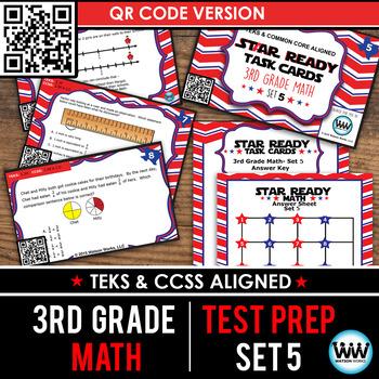 SETS 4-6 QR BUNDLE - STAR READY 3rd Grade Math Task Cards - STAAR / TEKS-aligned