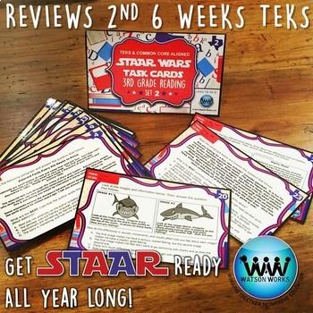 BUNDLE - STAAR WARS 3rd Grade Reading Task Cards ~ SETS 1-3