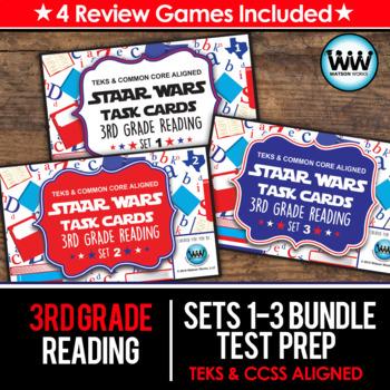 BUNDLE - STAR READY 3rd Grade Reading Task Cards ~ SETS 1-3 {TEKS-aligned}