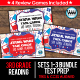 SETS 1-3 BUNDLE - STAR READY 3rd Grade Reading Task Cards - STAAR / TEKS-aligned