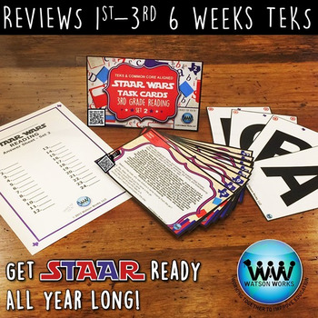 BUNDLE - STAR READY 3rd Grade Reading Task Cards ~ SETS 1-3 ~ QR Code Version
