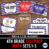 SETS 1-3 BUNDLE - STAAR READY 4th Grade Math Task Cards {TEKS-aligned}