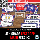 BUNDLE - STAAR READY 4th Grade Math Task Cards ~ SETS 1-3 ~ QR Code Version
