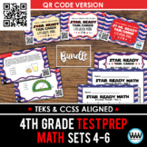 SETS 4-6 QR BUNDLE - STAR READY 4th Grade Math Task Cards - STAAR / TEKS-aligned