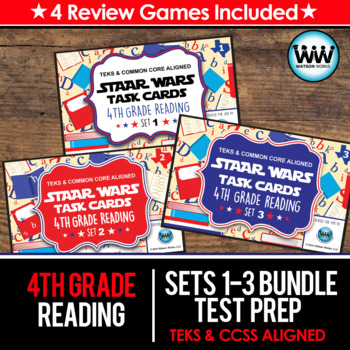 BUNDLE - STAAR WARS 4th Grade Reading Task Cards ~ SETS 1-3