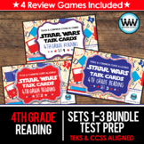 SETS 1-3 BUNDLE 4th Grade STAAR Reading Review Task Cards New ELAR TEKS