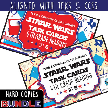 BUNDLE - STAR READY 4th Grade Reading Task Cards ~ SETS 1-6 ~ HARD COPIES