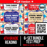 BUNDLE - STAAR WARS 4th Grade Reading Task Cards ~ SETS 1-6 ~ QR Code Version