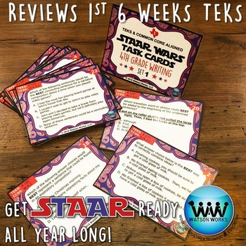 BUNDLE - STAAR WARS 4th Grade Writing Task Cards ~ SETS 1-3