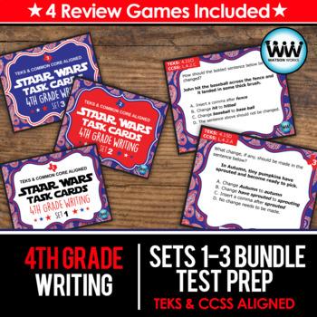 BUNDLE - STAR READY 4th Grade Writing Task Cards ~ SETS 1-3 {TEKS-aligned}
