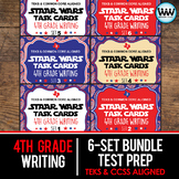 SETS 1-6 BUNDLE 4th Grade STAAR Writing Review Task Cards New ELAR TEKS