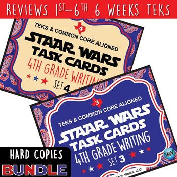 BUNDLE - STAAR WARS 4th Grade Writing Task Cards ~ SETS 1-6 ~ HARD COPIES