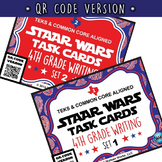 SETS 1-6 BUNDLE - STAAR READY 4th Grade Writing Task Cards  ~ QR Code Version