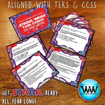 BUNDLE - STAAR WARS 4th Grade Writing Task Cards ~ SETS 4-6