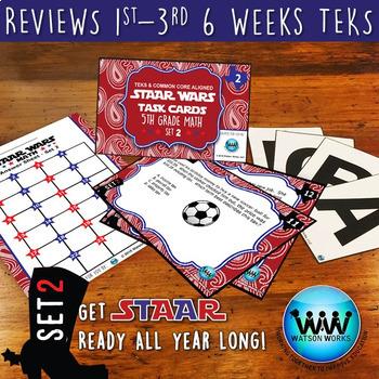 BUNDLE - STAAR WARS 5th Grade Math Task Cards ~ SETS 1-3