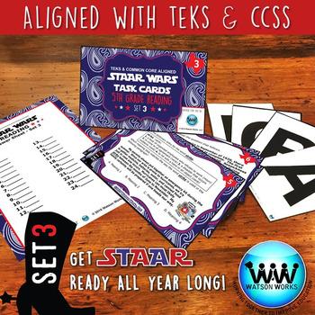 BUNDLE - STAAR WARS 5th Grade Reading Task Cards ~ SETS 1-3