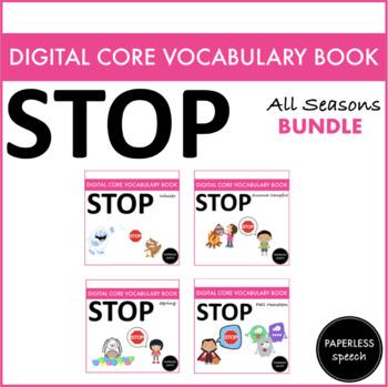 BUNDLE STOP - Digital AAC Core Vocabulary Books - All Seasons