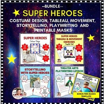 BUNDLE:  SUPER HEROES-COSTUME DESIGN, STORYTELLING & TABLEAU
