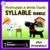 SYLLABLE TYPES | BOOM CARDS ELA | Open and Closed Syllables Activities