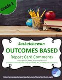 BUNDLE!  Saskatchewan Outcome Based Report Card Comments G