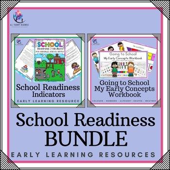 BUNDLE - SCHOOL READINESS BUNDLE - Going to School Workbook & Checklist