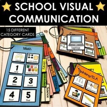 BUNDLE: School communication visuals. Pictures, cue cards, & schedules. Autism.