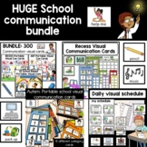School communication visuals with pictures | Cue cards and visual schedule