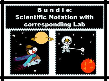 BUNDLE Scientific Notation Power Point and corresponding MATH LAB