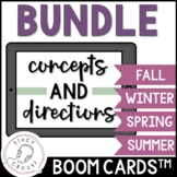 BUNDLE Seasonal Concepts and Directions BOOM CARDS™ No Pri
