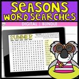BUNDLE   Seasons DIGITAL Word Searches
