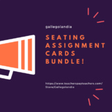 BUNDLE—Seating Assignment Cards (save 20%)