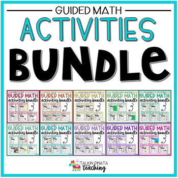 BUNDLE Second Grade Guided Math Activities