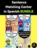 BUNDLE Sentence Matching Center in Spanish Centros de emparejar oraciones fotos