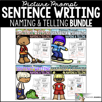 Sentence Structure - Naming and Telling Parts of a Sentence Year Long BUNDLE