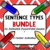 BUNDLE Sentence Types Animated PowerPoint Lesson + Activit