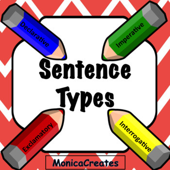 BUNDLE Sentence Types Animated PowerPoint Lesson, Activity + 3 Center Activities