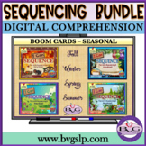 Boom Cards Sequencing and Story Retell SEASONAL BUNDLE - T